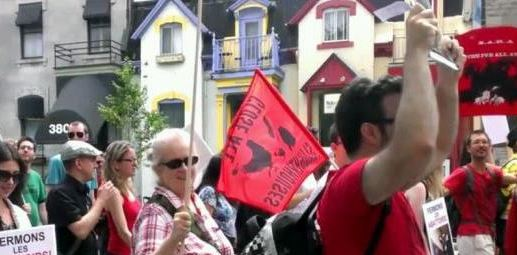 Vegan Dialogue at the Montreal March to Close down All Slaughterhouses