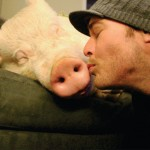 Esther getting a kiss!