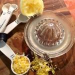 Lemon Peel and Juice