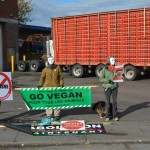 Vigil outside Marvid slaughterhouse